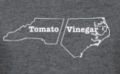 Vinegar :)  ~ or both! like my maw-maw makes it!