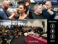 'You never stop learning. That's half the fun' We are pleased to announce that Stuart Bray will be back to show us his skills at #UMAe2016. Stuart is a freelance special effects makeup artist working in the film and television industry since 1994. He specialises in all the processes involved in making prosthetic appliances and make-up effects from design, sculpting, moulding, casting and application.