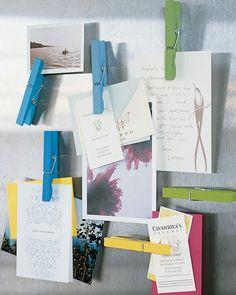 Clothespin Photo-Hangers - Martha Stewart Crafts