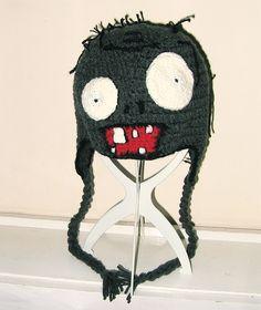 Plant vs Zombies Halloween crochet hat, made 29.09.13