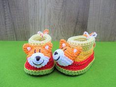 Häkelanleitung Baby-Booties / Babyschühchen Fuchs - 4 Größen https://www.crazypatterns.net/de/items/26130/haekelanleitung-baby-booties-babyschuehchen-fuchs-4-groessen