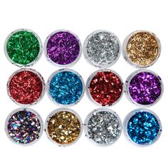 Glitter Shakers, 12 Pack - Multicolor