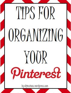 tips for organizing your pinterest