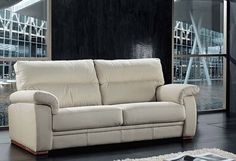 Domino Contemporary Leather Sofa Suite, Leather Sofas, Fabric Sofas