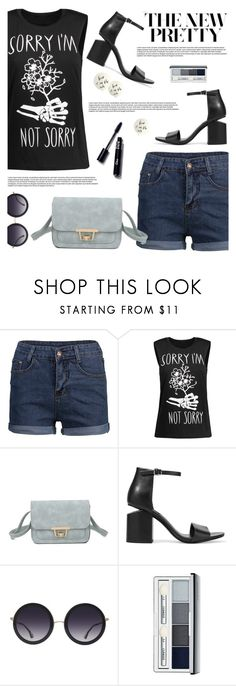 """""""The New Pretty"""" by tamara-p ❤ liked on Polyvore featuring Alexander Wang, Alice + Olivia, Clinique, Kate Spade, Summer and shorts"""