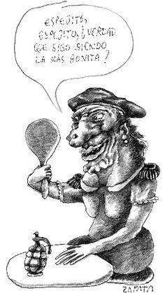 Caricatura de Zapata en la página de Opinión (PEDRO LEON ZAPATA / EL NACIONAL). Publicada: 21-03-2004