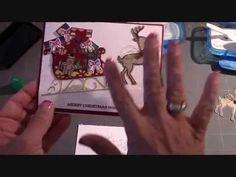 Stampin' Up! Santa's Sleigh Bundle Christmas Card - YouTube