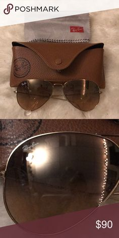 Perfectly good ray bans Basically unworn. Comes with case and cloth, authentic and no scratches Ray-Ban Accessories Sunglasses