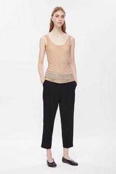 COS   Sheer silk vest top