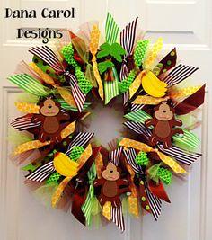 Jungle Monkeys and Bananas - New baby/kid's room decor