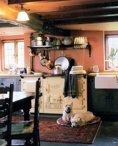 No cottage kitchen is complete without an Aga Cooker