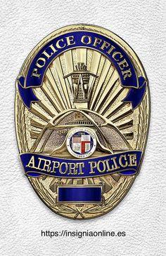 Black Round Badge Holder Shield Leather Clip On Belt for Law Enforcement Police