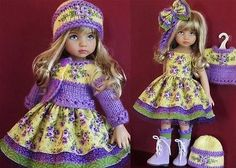 DRESS-SWEATER-HAT-BOOTS-SET-MADE-FOR-EFFNER-LITTLE-DARLING-SIMILAR-SIZE-13-DOLL. Ends 9/28/14. Sold for $177.50