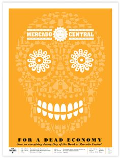 Hispanic Posters for Mercado Central by Luis Fitch, via Behance