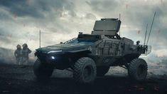 Concept Cars And Trucks Army Vehicles, Armored Vehicles, Sci Fi Spaceships, Sci Fi Ships, Futuristic Art, Futuristic Vehicles, Military Weapons, War Machine, Sci Fi Art