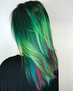 Green, Blue and Purple Locks