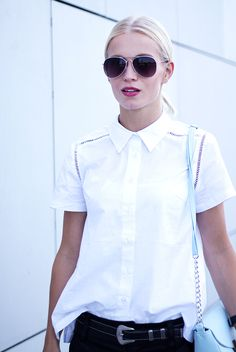 Cut out A-line shirt. #chic #street