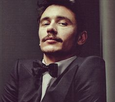 Now that's a good looking mustache. love James Franco