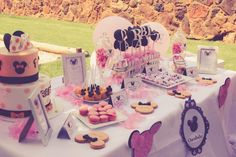 Elegant Kids Organisers treat every aspect of the event from concept to execution with the dedication needed to ensure a stress - free and memorable event. Minnie Mouse Party, Mouse Parties, 1 Year Birthday, Birthday Cake, Dessert Table, Party Themes, How To Memorize Things, Treats, Elegant