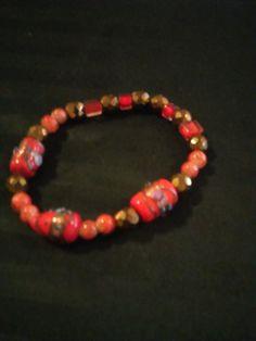 Orange Delicate  Single Bracelet by SheilasJewels on Etsy