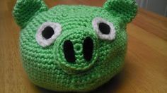 crocheted Angry Bird pig