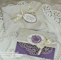 Hello and Welcome! Today I am sharing another wedding card and matching envelope made with the Falling In Love Suite. The So In Love Bundle. Wedding Shower Cards, Wedding Cards, Wedding Invitations, Wedding Anniversary Cards, Wedding Table Numbers, Sympathy Cards, Flower Bouquet Wedding, Flower Cards, Purple Wedding
