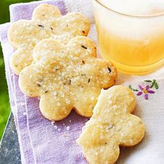 Midwest Living July/August 2013 Recipes | Midwest Living - Lavender Shortbread Cookies