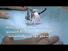 5/10 BERNINA 780: how to sew with the BERNINA Stitch Regulator (BSR) - YouTube