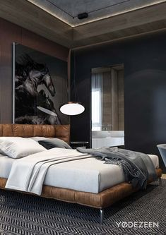 What You Can Do About Bachelor Pad Bedroom Masculine Interior Beds Starting In The Next Two Minutes 70 Home Decor Bedroom, Bedroom Furniture, Bedroom Ideas, Design Bedroom, Bedroom Wall, Bedroom Girls, Bedroom Curtains, Bedroom Lamps, Wall Lamps