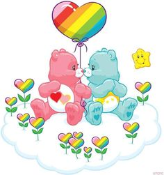 Care Bears- Lots a heart & Wish bear