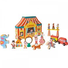 Janod - story box circus - wooden toy circus