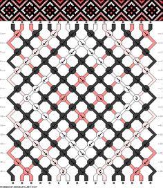 Friendship bracelet pattern 16 strings 16 rows 4 colors new Diy Bracelets With String, String Bracelet Patterns, Thread Bracelets, Embroidery Bracelets, Bracelet Knots, Bracelet Crafts, Silver Bracelets, Mochila Crochet, Motifs Perler