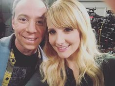 """Melissa Rauch on Instagram: """"Tape night @bigbangtheory_cbs with the always wonderful @kevsussman 🎥 I 💛me some Stuart! (*FYI: It should be known that I don't know where…"""" Big Bang Theory Show, Melissa Rauch, I Don T Know, Celebs, Celebrities, Bigbang, Tv Shows, Take That, Singer"""