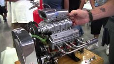 Miniature Blown V8 Engine