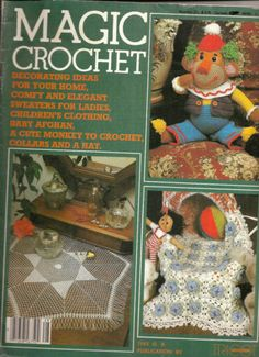 Magic Crochet Magazine No 28 December 1983 Home Decor Crochet Patterns & More