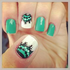 Funky nails #nails #turquoise