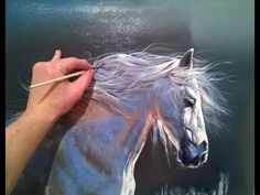 How to draw the Horse. Best class for Painting the horse. Alexandr Uzhakov. - YouTube