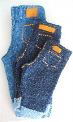 Вязанные джинсы для малыша схема