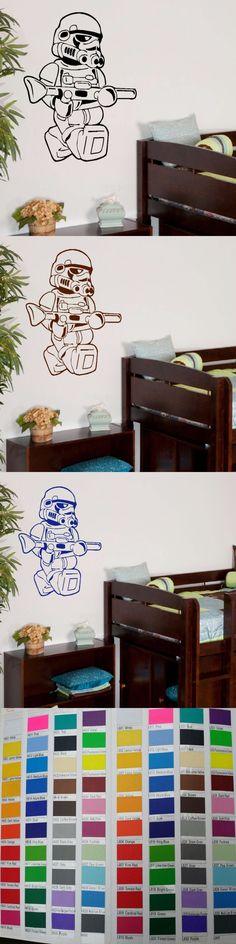 LARGE STAR WARS LEGO MEN STORM TROOPER FOR CHILDREN KIDS BEDROOM WALL ART STICKER VINYL SELF ADHESIVE TRANSFER DECAL HOME DECOR