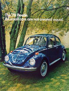 1973 Volkswagen Beetle Ad                                                                                                                                                                                 Más