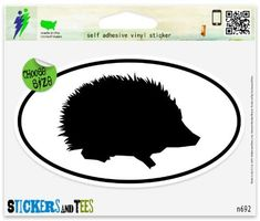 Window Stickers, Bumper Stickers, Car Magnets, Adhesive Vinyl, Spice Things Up, Car Windows, Silhouette, Hedgehogs, Laptops