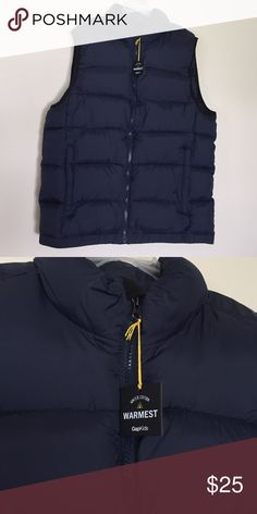 GAPKids puffy vest Brand new GAPKids brand puffy zip-up vest. Navy blue. From a smoke free home. GAP Other