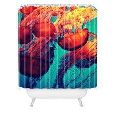 Krista Glavich Jellyfish 7 Shower Curtain | DENY Designs Home Accessories