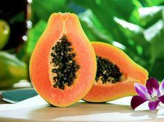 Papaya and orchid...