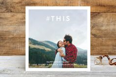 Hashtag This Holiday Photo Cards for a message that's current and thoughtful