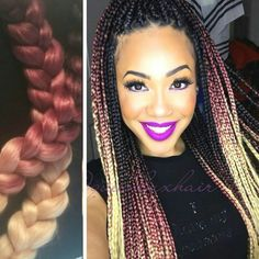 New! Ombré 100% Kanekalon Jumbo Braiding Hair. Kanekalon is the most popular…