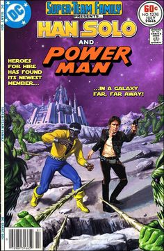 Super-Team Family: The Lost Issues! - Han Solo and Power Man Star Wars Comics, Marvel Comics Art, Marvel Comic Universe, Star Wars Humor, Comics Universe, Comic Book Characters, Comic Character, Comic Books Art, Heroes For Hire