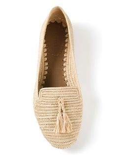 Handwoven loafers.