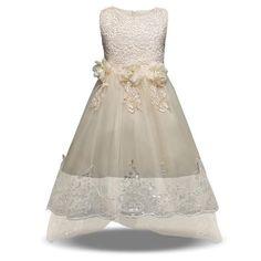 7d021f31cb7b3 2018 nouvel été bébé fille robe princesse en dentelle solide vêtements pour  enfants mariage et robe