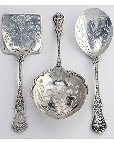 """Beautiful Sterling Serving Spoons ...one of my favorites Tiffany and Co """"Olympian"""" It is beautiful up close"""
